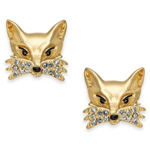 Kate Spade New York Pave Foxy Fox Stud Earring